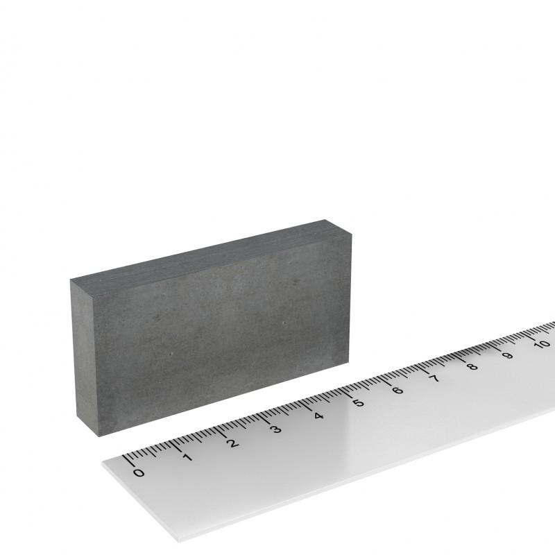 Quadermagnet 60x30x10 mm Ferrit