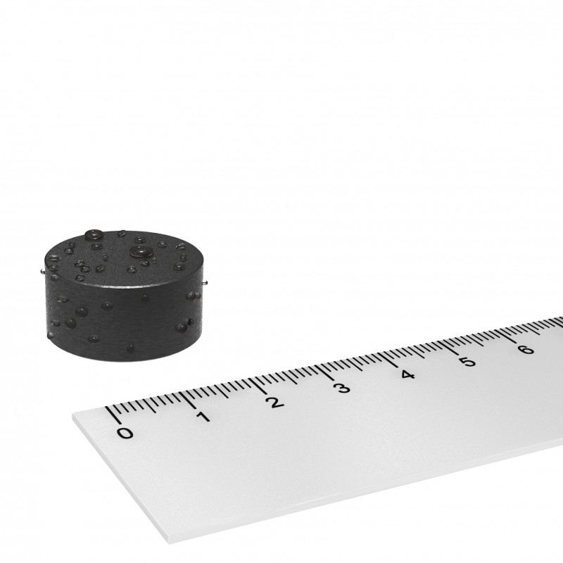 Scheibenmagnet gummiert 22x11 mm Neodym