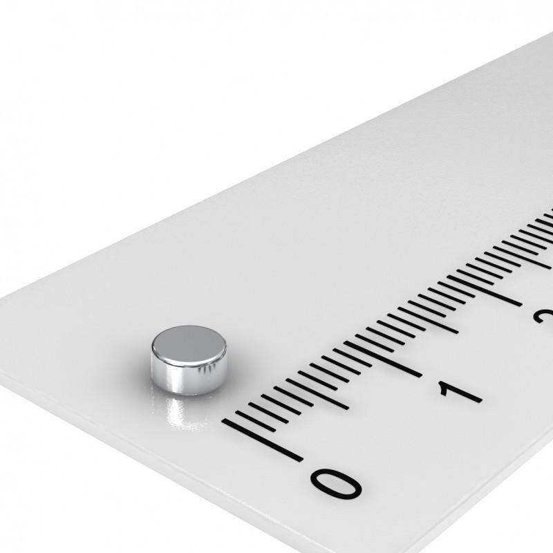 Scheibenmagnet 4x4 mm Neodym diametral magnetisiert bis 150°C