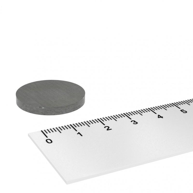 25x3 mm ferrite magnet, up to 250°C