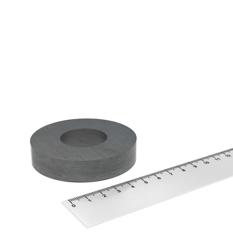 Ringmagnet 72x15 mm mit 32 mm Bohrung Ferrit