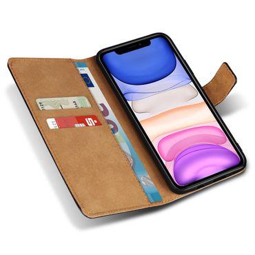 Handy Hülle für Apple iPhone 11 Tasche Schwarz Leder Schutzhülle Flip Cover Case – Bild 4
