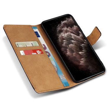 Handy Hülle Apple iPhone 11 Pro Max Leder Tasche Schwarz Schutzhülle Flip Cover – Bild 4