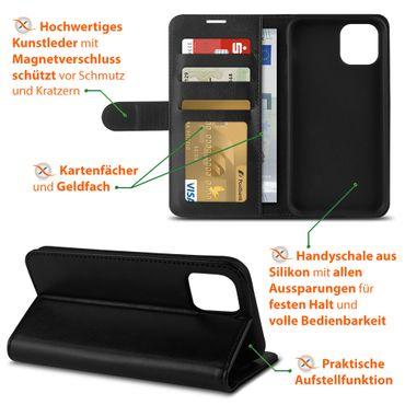 Schutzhülle für Apple iPhone 11 Pro Handy Hülle Schwarz Tasche Flip Case Cover – Bild 4