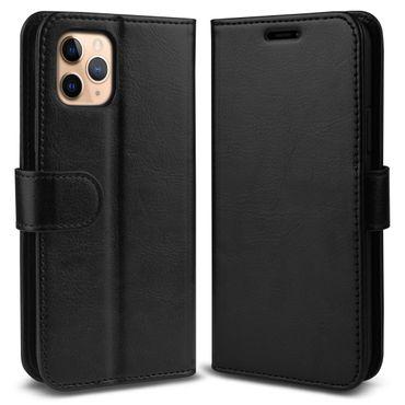Schutzhülle Apple iPhone 11 Pro Max Handy Hülle Schwarz Schutz Tasche Flip Case – Bild 6