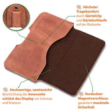 Leder Tasche Apple iPhone 11 Pro Handy Hülle Sleeve Cover Schutzhülle Lederhülle – Bild 13