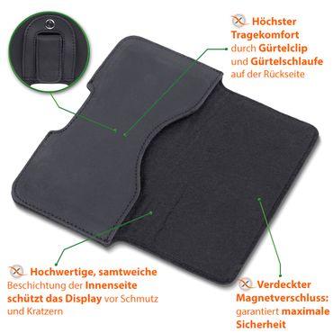 Leder Tasche für Apple iPhone XS Handy Hülle Sleeve Cover Schutzhülle Lederhülle – Bild 6