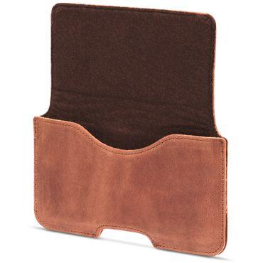 Leder Tasche für Apple iPhone XS Handy Hülle Sleeve Cover Schutzhülle Lederhülle – Bild 14