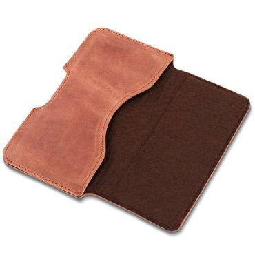 Leder Tasche für Apple iPhone Xs Hülle Sleeve Schutzhülle Handy Case Cover – Bild 7