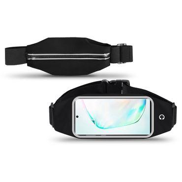 Handy Hülle für Samsung Galaxy Note 10 Plus 5G Tasche Schwarz Fitness Sport Case