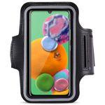 Jogging Tasche Samsung Galaxy A90 5G Handy Hülle Armband Fitness Case Schwarz 001