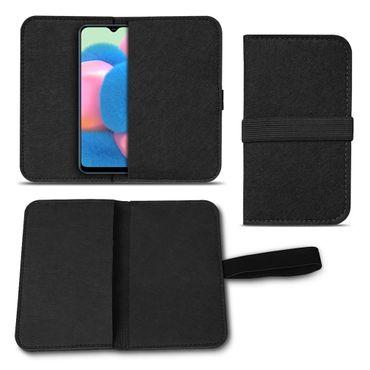 Handy Hülle Samsung Galaxy A30s Filz Tasche Schutzhülle Handyhülle Schutz Cover – Bild 2