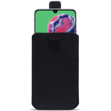 Leder Hülle für Samsung Galaxy A90 5G Schwarz Tasche Schutzhülle Pull Tab Case – Bild 2