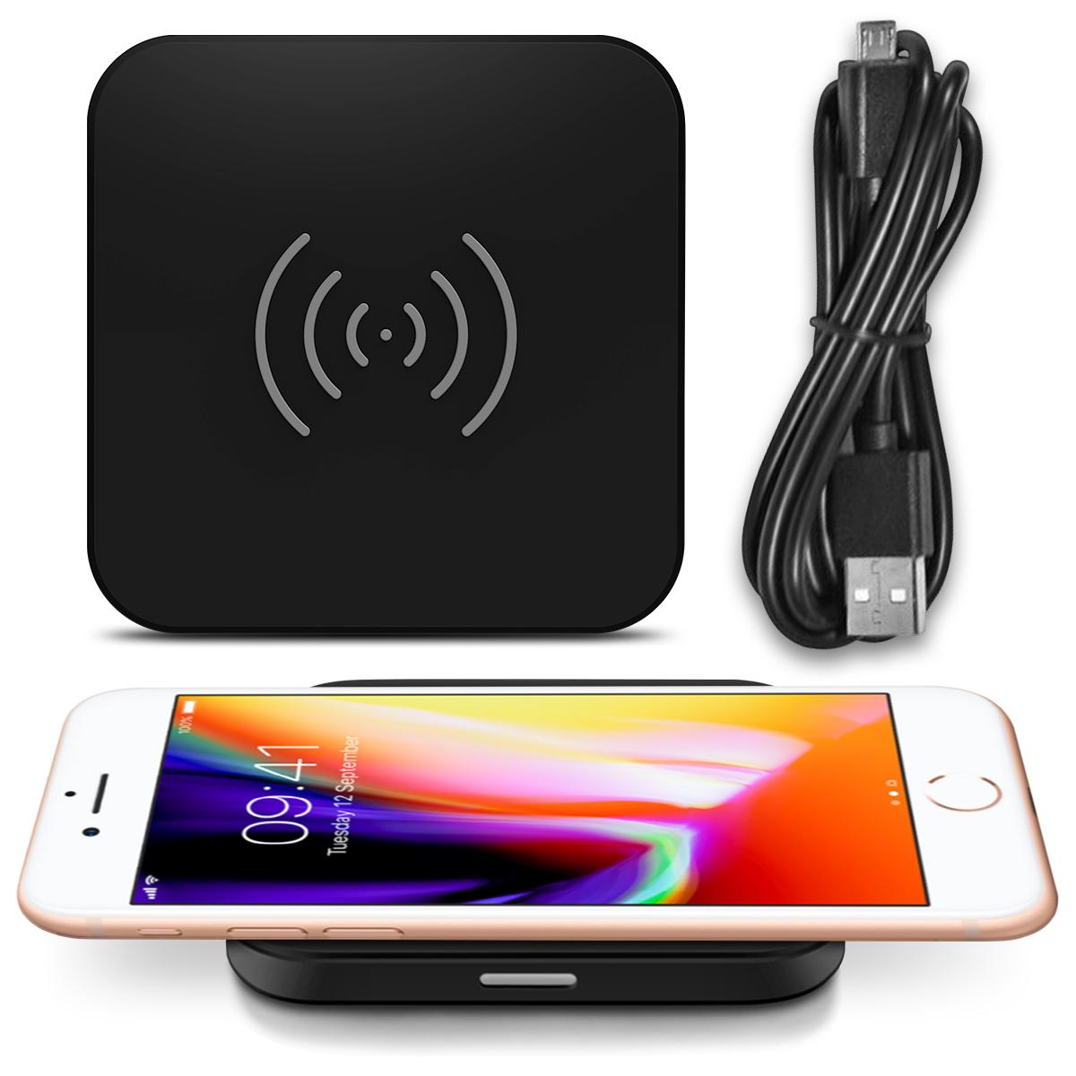 qi wireless ladestation apple iphone 8 plus kabellos induktives schnellladeger t technik kfz. Black Bedroom Furniture Sets. Home Design Ideas