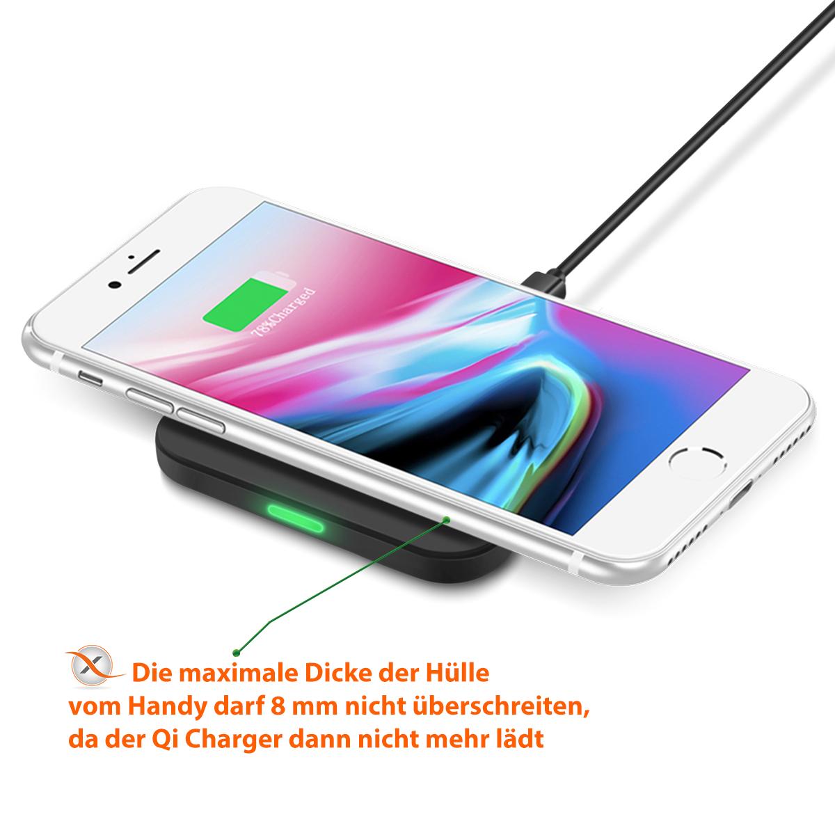 qi wireless ladestation apple iphone xs max kabellos induktives schnellladeger t technik kfz. Black Bedroom Furniture Sets. Home Design Ideas