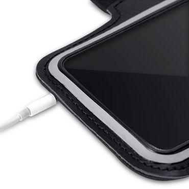 Handy Hülle für Samsung Galaxy A71 Jogging Tasche Schwarz Fitness Armband Case – Bild 4