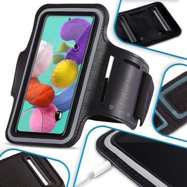Handy Hülle für Samsung Galaxy A71 Jogging Tasche Schwarz Fitness Armband Case – Bild 11