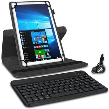 Schutzhülle Trekstor Surftab Y10 Tasche Bluetooth QWERTZ Tastatur Hülle Schwarz – Bild 3