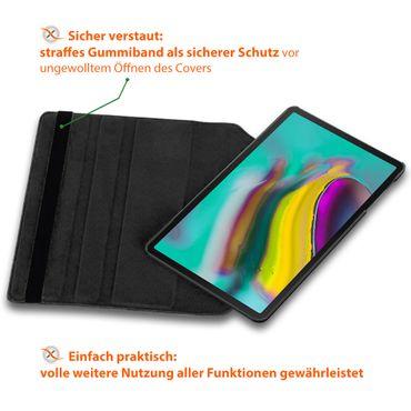 Tablet Tasche Samsung Galaxy Tab S5e 10.5 T720 Schwarz Hülle Schutzhülle Drehbar – Bild 5
