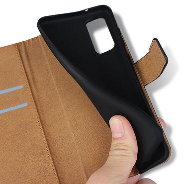 Handy Hülle für Samsung Galaxy S20 Tasche Schwarz Leder Schutzhülle Flip Case – Bild 9