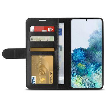 Handy Hülle Samsung Galaxy S20 Plus Tasche Schwarz Schutzhülle Flip Case Cover – Bild 4