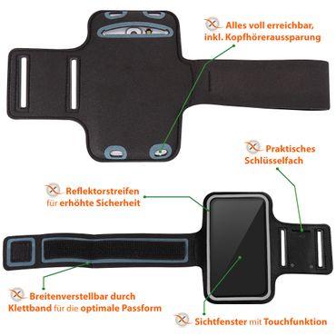 Schutzhülle für Huawei P40 Handy Tasche Schwarz Sport Hülle Fitness Lauf Case – Bild 11