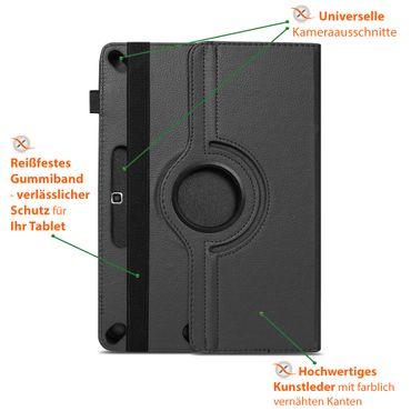 Schutzhülle Samsung Galaxy Tab S6 Lite Tablet Hülle Tasche Cover Drehbar Schwarz – Bild 10
