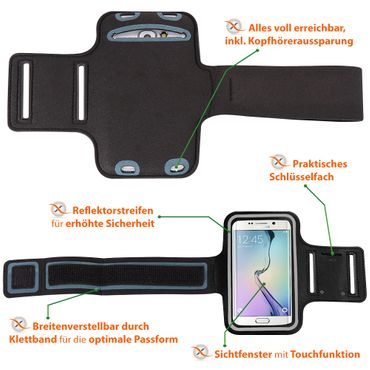 Schutzhülle Samsung Galaxy M21 / M30s Jogging Tasche Hülle Sportarmband Fitness – Bild 9