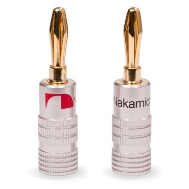 4x High End Nakamichi Bananenstecker Bananas für Kabel bis 6mm² 24K vergoldet – Bild 2