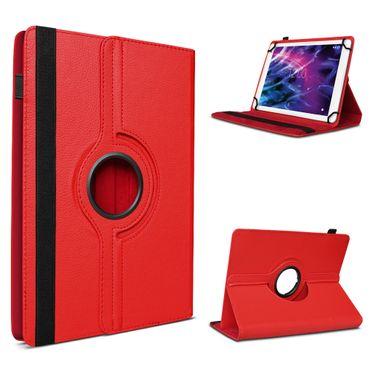 Tablet Tasche f Medion Lifetab P10602 X10605 X10607 P9702 Hülle Rot Schutzhülle