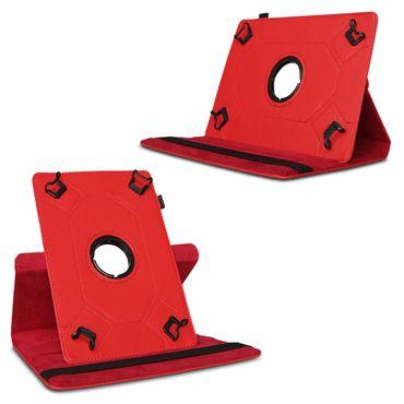 Tablet Tasche f Medion Lifetab P10602 X10605 X10607 P9702 Hülle Rot Schutzhülle  – Bild 4