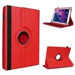 Tablet Tasche f Medion Lifetab P10602 X10605 X10607 P9702 Hülle Rot Schutzhülle  001