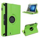 Tablet Hülle Tasche für 10 - 10.1 Zoll Schutzhülle Cover Case Grün 360° Drehbar  001