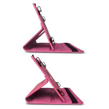 Tasche Tablet für Medion Lifetab P9702 Hülle Pink Cover Case Schutzhülle Drehbar – Bild 7