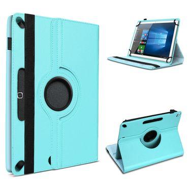 Tablet Tasche 10 - 10.1 Zoll Hülle Schutzhülle Cover Case Türkis 360° Drehbar