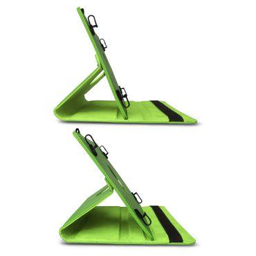 Tasche Tablet für Medion Lifetab P9702 Hülle Grün Cover Case Schutzhülle Drehbar – Bild 7