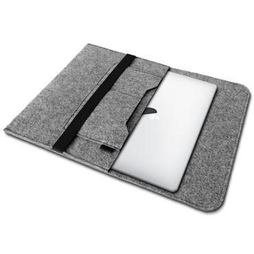 Apple Macbook Pro 15,4 Zoll Tasche Hülle Grau Cover Sleeve Filz Case Notebook – Bild 2