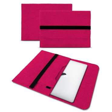 Laptop Tasche für Apple Macbook Pro 13,3 Hülle Pink Cover Grau Sleeve Filz Case