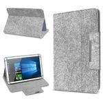 Filz Hülle für 10 - 10.1 Zoll Tablet Tasche Schutzhülle Case Schutz Cover Grau 001