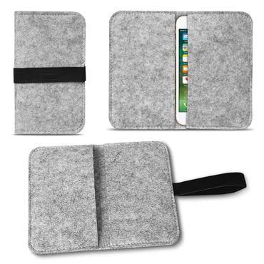Filz Hülle Apple iPhone SE 5 5S 5C Tasche Cover Case Handy Flip Filztasche  – Bild 8