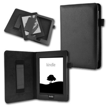 Tasche für Amazon Kindle Paperwhite Hülle Wake/Sleep Cover Ebook Case Schwarz – Bild 1