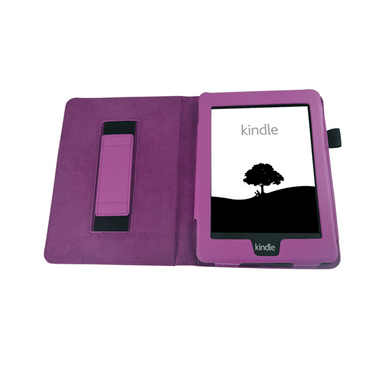 Tasche für Amazon Kindle Paperwhite Hülle Wake Sleep Cover Ebook Schutzcase Lila – Bild 2