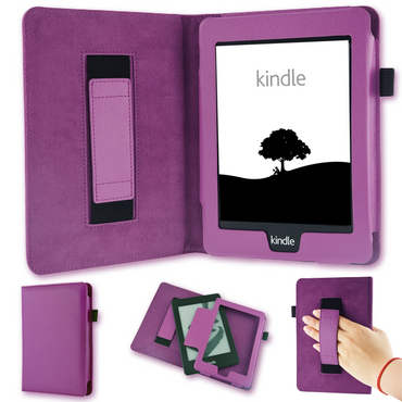 Tasche für Amazon Kindle Paperwhite Hülle Wake Sleep Cover Ebook Schutzcase Lila – Bild 1