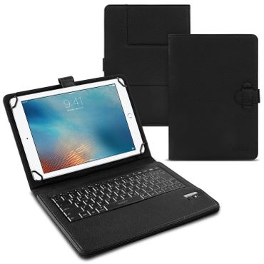 NAUC Hülle-Tasche-Keyboard-Case für Apple iPad Air Tastatur Bluetooth QWERTZ Standfunktion Micro USB  – Bild 1