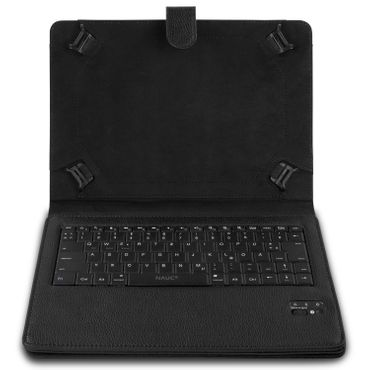 NAUC Hülle-Tasche-Keyboard-Case für Apple iPad Air Tastatur Bluetooth QWERTZ Standfunktion Micro USB  – Bild 4