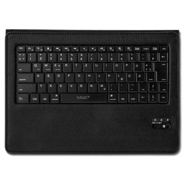NAUC Hülle-Tasche-Keyboard-Case für Apple iPad Air Tastatur Bluetooth QWERTZ Standfunktion Micro USB  – Bild 7