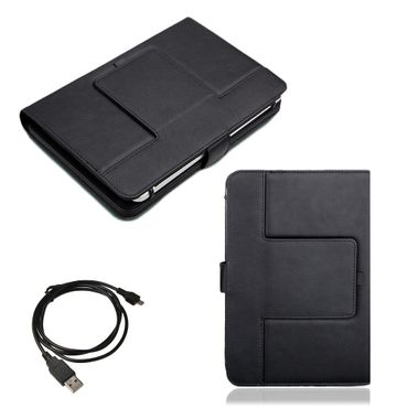 NAUC Hülle-Tasche-Keyboard-Case für Apple iPad Air 2 Tastatur Bluetooth QWERTZ Standfunktion Micro USB  – Bild 7
