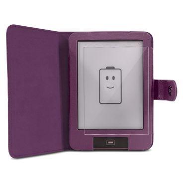 Schutzhülle für Tolino Vision 3 4 HD E-Book Tasche Lila Cover Schutzfolie Folie – Bild 2