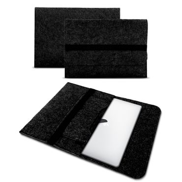 Tasche für Apple Macbook Air 13 2018 Hülle Dunkelgrau Cover Sleeve Filz Notebook