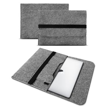 Tasche für Apple Macbook Air 13 2018 Hülle Grau Cover Sleeve Filz Case Notebook